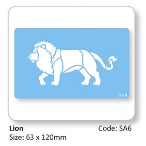 JEM Lion Full Body Stencil