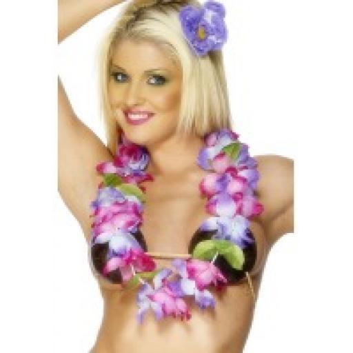 Hawaiian Leis Purple & Pink