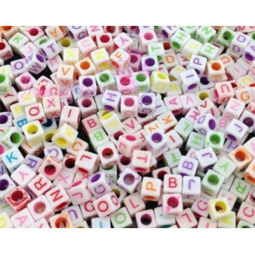 Fun Craft Letter Beads Multi Soft Colours