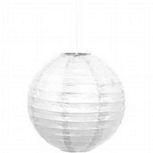 Paper Lantern 10 inch White