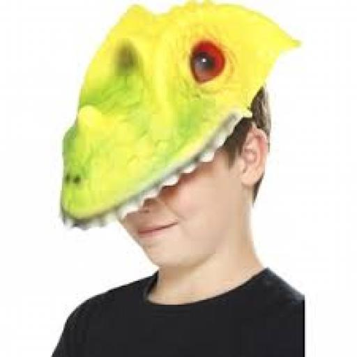 Crocodile Head Mask Green & Yellow EVA