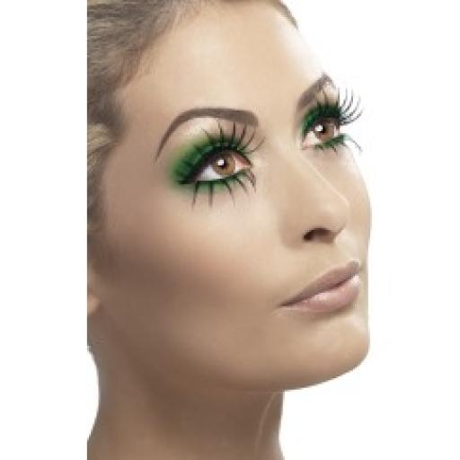 Fever Eyelashes Black with Top & Bottom Set & adh