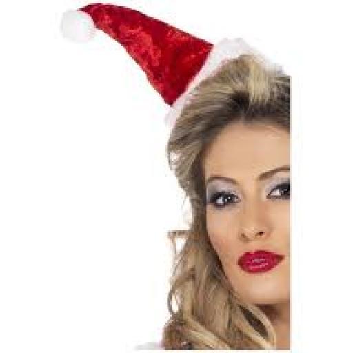 Mini Santa Hat on Headband