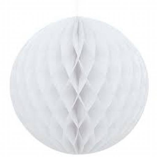 Honeycomb Ball 8inch White