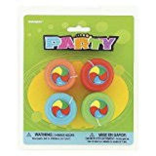 Yo-Yos 4pcs Party Bag Filler