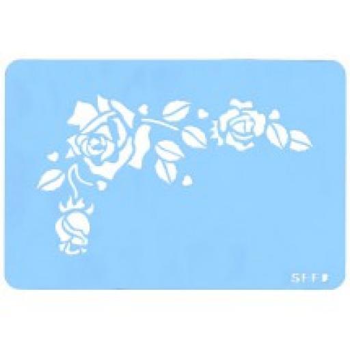 Romantic Rose Stencil Reusable