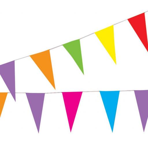BUNTING ASSORTED COLOUR 10m 20 flags