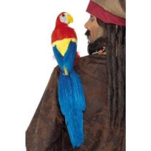 Feathered Parrot Lifelike on Elastic Strap for Sho