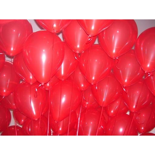 Met Cherry Red 12 inch Latex Balloon 50 pcs