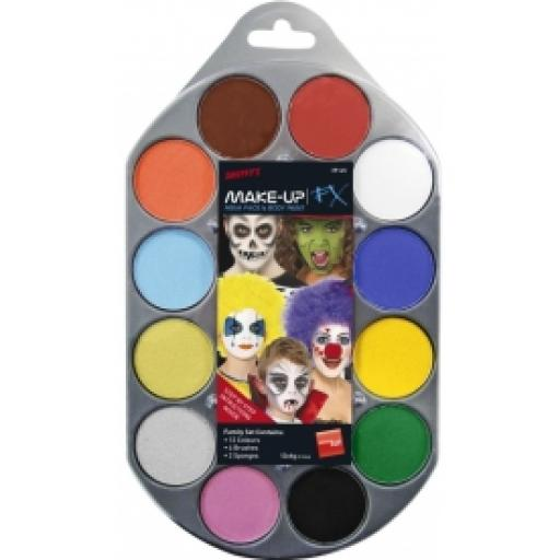 Make Up Kit Smiffys 12 colour