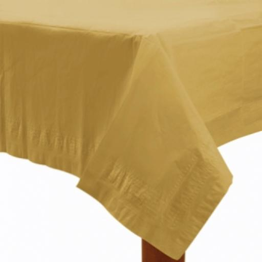 Gold Paper Tablecover 1.37m x 2.74m