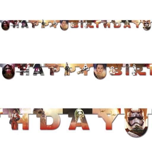 Star Wars Paper Banner Happy Birthday 2.1m