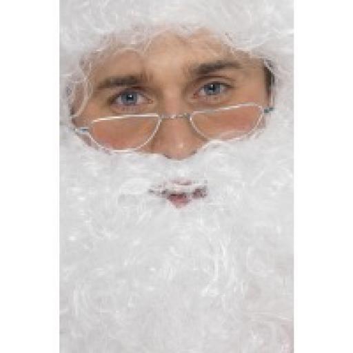 Santa Half Moon Specs, Silver