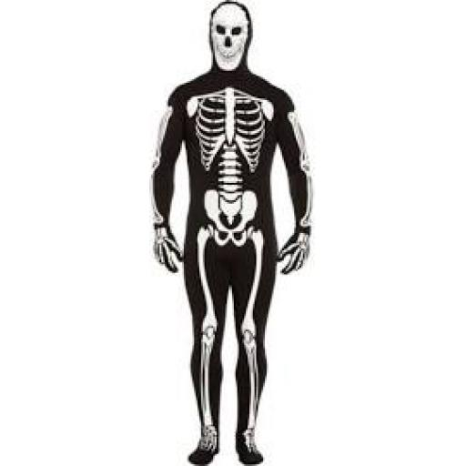 Skeleton Glow in The Dark Bodysuit Adult Costume