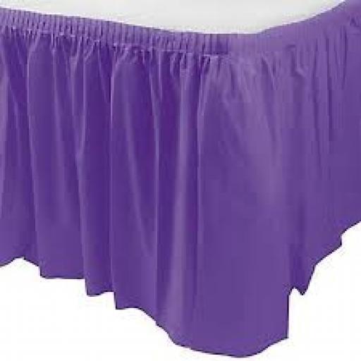 Plastic Table Skirt Purple 73cm x 426cm