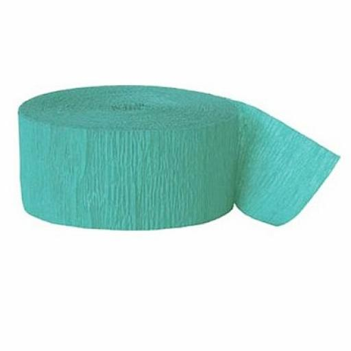 Crepe Streamer 81 ft Teal