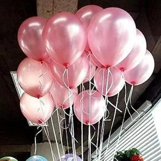 Met Light Pink 12 inch Latex Balloons 50pcs