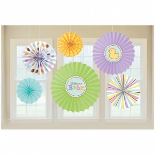 Baby Shower Tiny Bundle Paper Fan Decoration