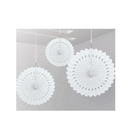 Decorative Fan 16 inch White 1pc