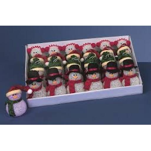Battery Operated Eva Traditional Colour Snowman