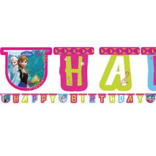 Frozen Happy Birthday Paper Letter Banner 2.15m
