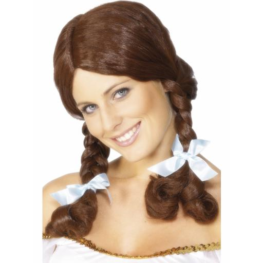 Country Girl Wig Brown Plaited