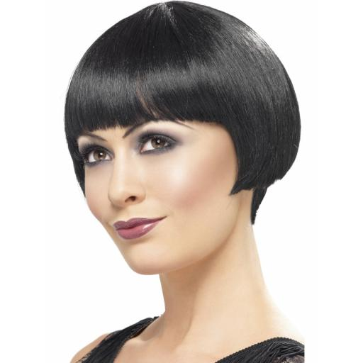 Flapper Bob Wig Black Short