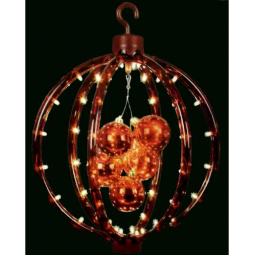 30cm LED Reflector Red hanging Ball