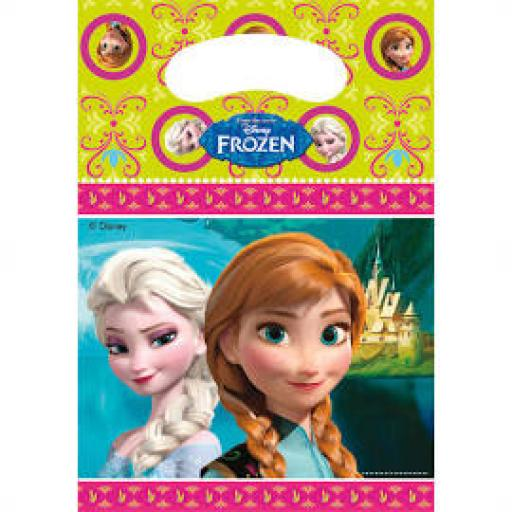 Frozen Plastic Party Bags 6pcs