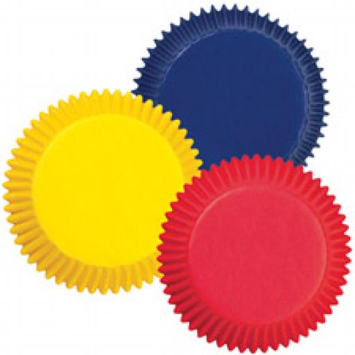 Assorted Primary Colors Mini Baking Cups 100pcs