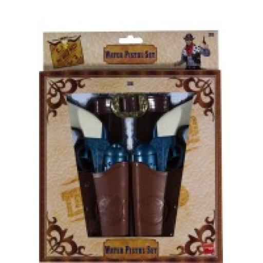 Wild West Water Pistol Set With Holster and Belt