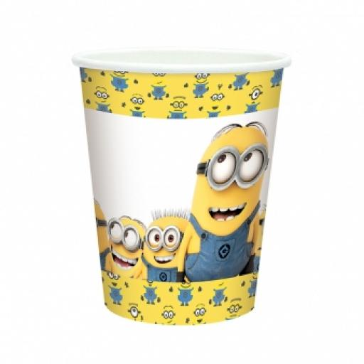 Minions Paper Party Cups 266ml 8pcs