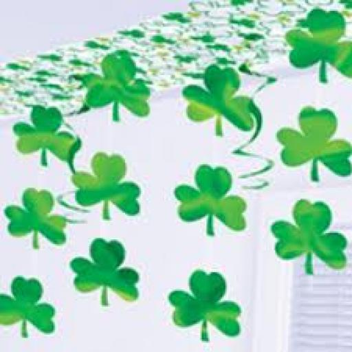 St Patricks Day Canopy Deco 12feet Long 2feet wide