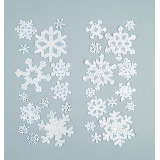 Snowflake Window Sticker Set