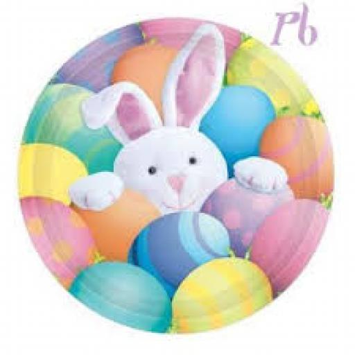 Peek a boo Bunny 8 Plates 7in