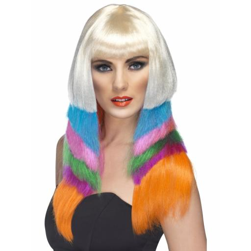 Neon Starlet Wig Multi-Coloured Layered