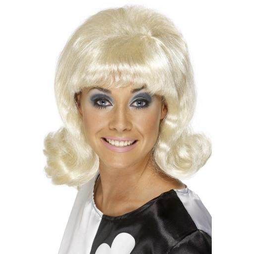 60s Flick-Up Wig Blonde Short