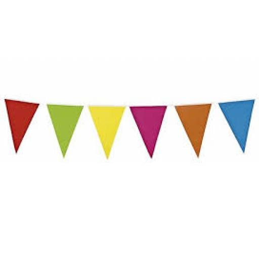 Bunting Plastic Multy Coloured 10m