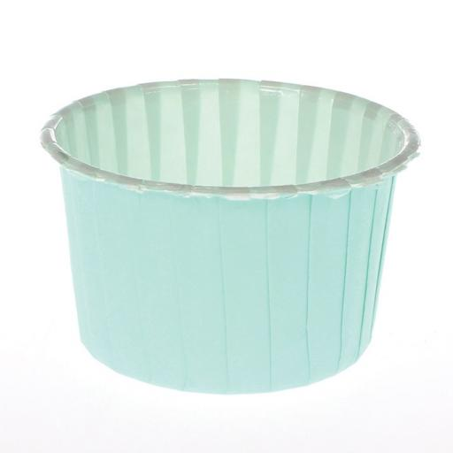 Aqua Coloured Baking Cups-24pcs