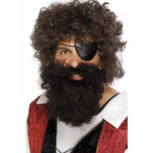 Pirate Beard Deluxe Brown