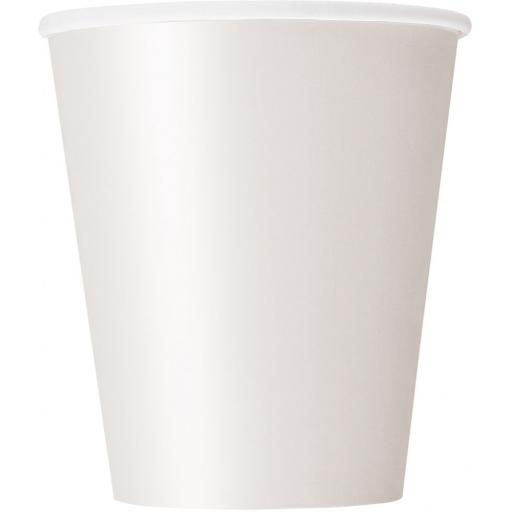 14 White Paper Party Cups 9oz