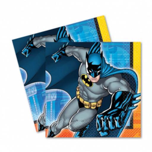 Batman Luncheon Napkins 33cm 2ply 16pcs