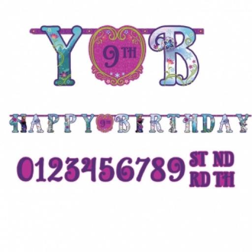 Frozen Add an Age Letter Banner Customisable