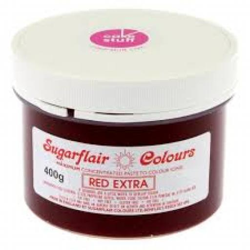 Sugarflair Red Extra Food Colour 400g