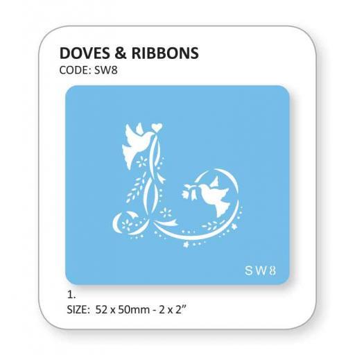 Doves & Ribbons Stencil