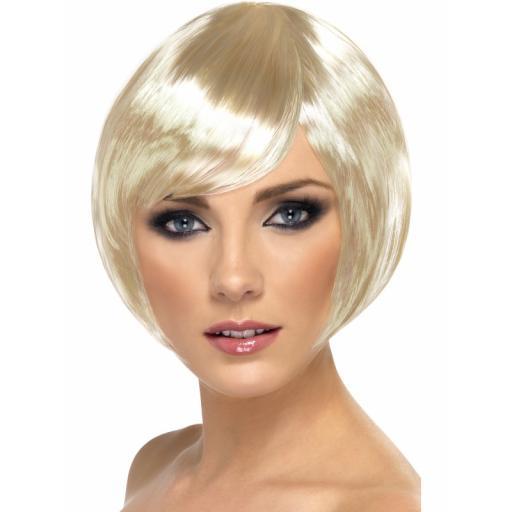 Babe Wig Blonde Short Bob with Fringe