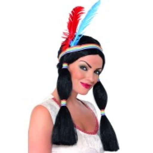 INDIAN WIG BUNCHES FEATHERS DBX AS