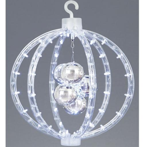 30cm LED Reflector white hanging Ball