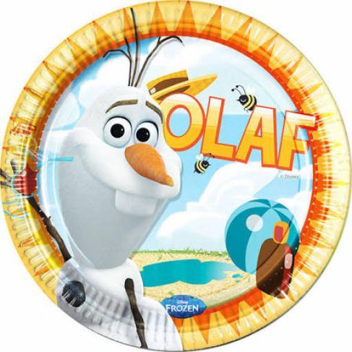 8 Olaf Summer Paper Plates 23cm