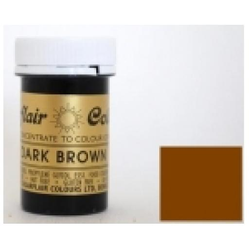 Sugarflair Spectral Dark Brown Paste Colour 25g